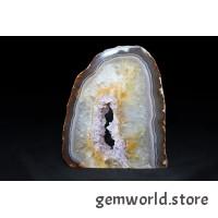 минерал Агат с жеодой (аметист, кварц, цитрин) 2х10х11.7 см