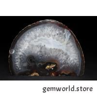 минерал Агат с кварцем и сердоликом 5.5х12.5х9.3 см