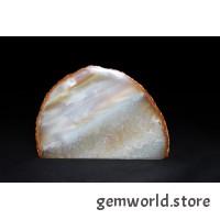 минерал Агат с кварцем и сердоликом(радуга) 2.8х12х8 см