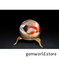 минерал Агат сердолик шар диаметр 4.5 см