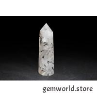 минерал Кварц с турмалином 2х1.5х6.5 см