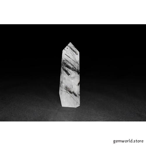 минерал Кварц с турмалином 2х2х7.5 см