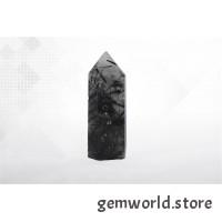 минерал Кварц с турмалином 1.5х2х6.7 см