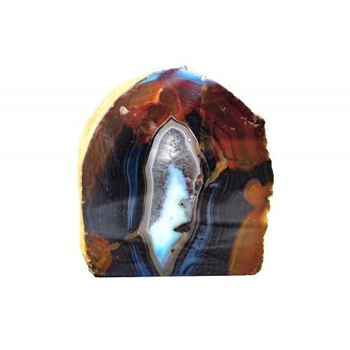 минерал Агат черный с кварцем и сердоликом 10х9х10 см