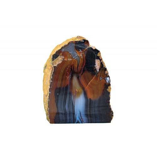 минерал Агат черный с сапфирином 7.5х9х10 см