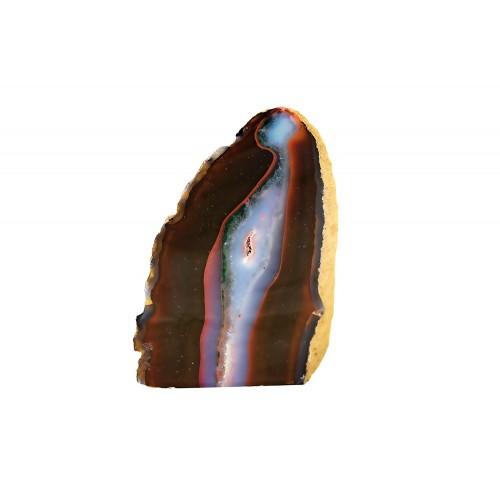 минерал Агат черный с сапфирином и сердоликом 8х7х11 см