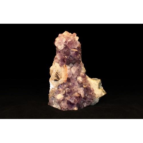 минерал Аметист друза с кальцитом 6х12х14 см