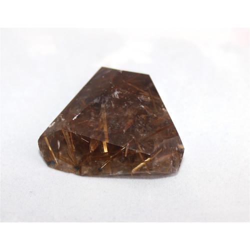 минерал Кварц с рутилом 4х4х1 см