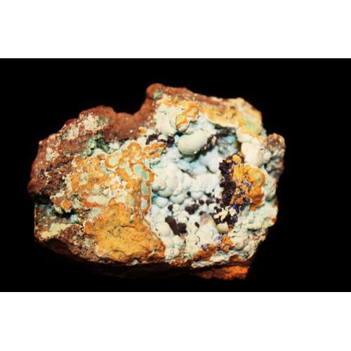 Камень Розазит с азуритом 1.5х4.5х5 см