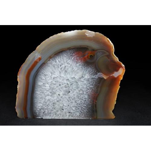 минерал Агат с кварцем и сердоликом 3х11х10 см