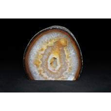 минерал Агат с цитриново - кварцевой жеодой, кварцом и сердоликом 5х8.5х7.5 см