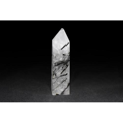 минерал Кварц с турмалином 2х1.5х7.5 см