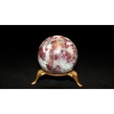 минерал Турмалин с кварцем шар диаметр 5.1 см