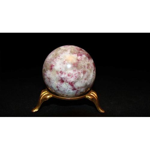 минерал Турмалин с кварцем шар диаметр 4.5 см