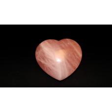 минерал Розовый кварц сердце 4.3х8х9 см