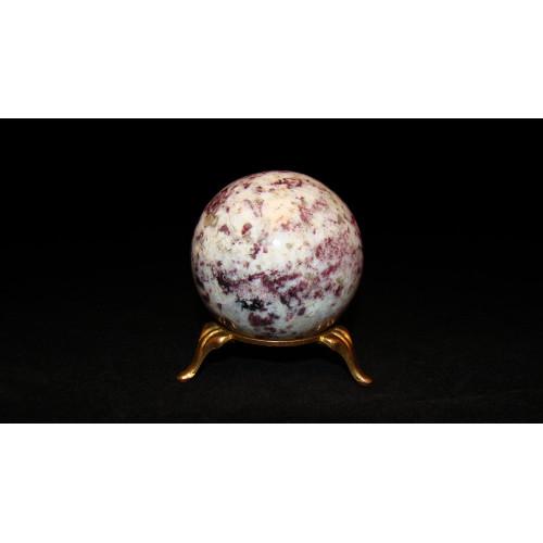 минерал Турмалин с кварцем шар диаметр 5.5 см