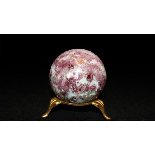 минерал Турмалин с кварцем шар диаметр 5.3 см
