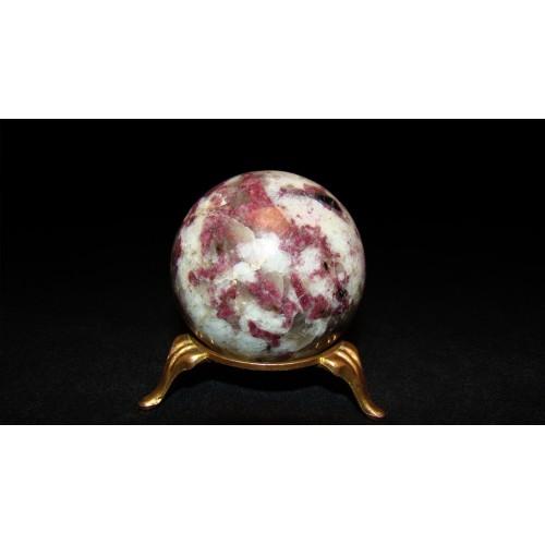 минерал Турмалин с кварцем шар диаметр 5 см